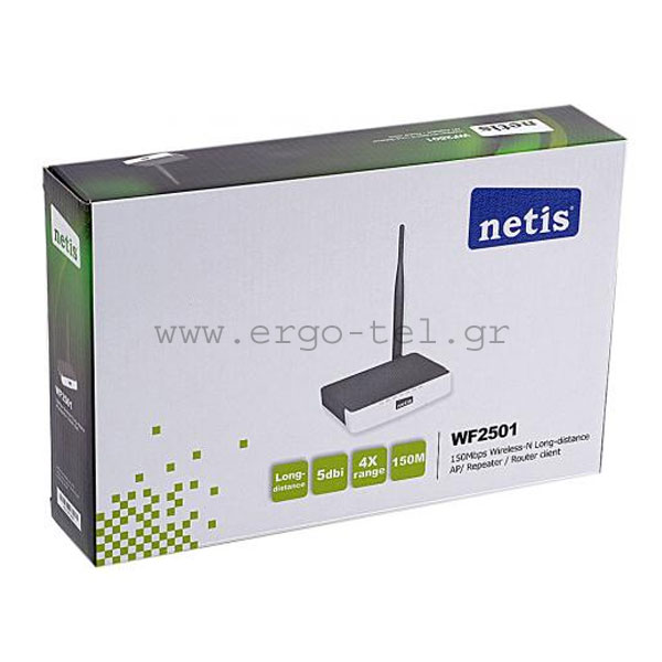 ΑΣΥΡΜΑΤΟ ROUTER 150Mbps ACCESS POINT & REPEATER ΣΤΑ 2,4GHz NETIS WF-2501