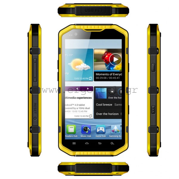 "������ �������� SMARTPHONE RG700 NFC ANDROID 5.3"" DUAL CORE ��� 2 SIM ��������� IP68 & �������"