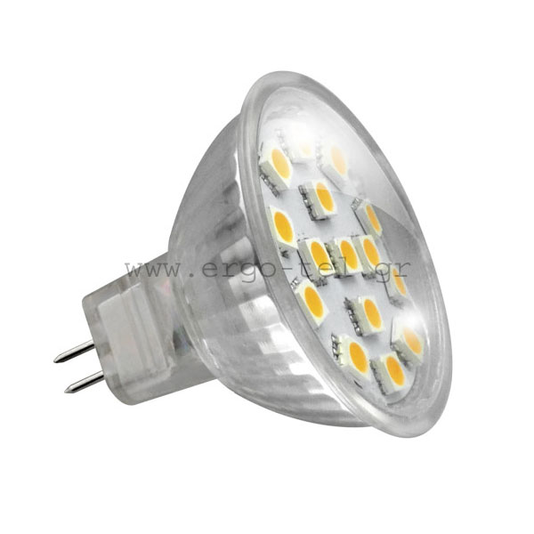����� LED ������� MR16 3W 12V AC/DC 6000k ����� ����� ��� �� 15SMD5050 100� 250LUMEN