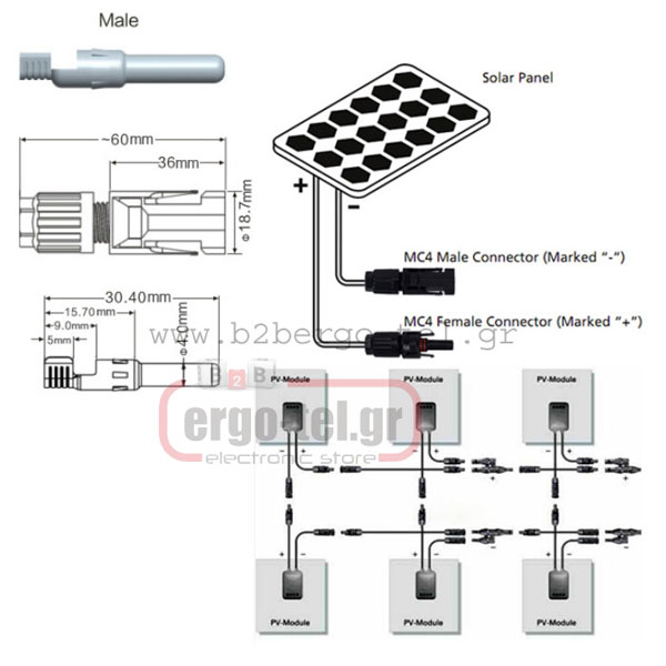 ��������� �������� �������� CONNECTOR SOLAR 1,5 - 4mm FCH4 ��� ������������ ���������