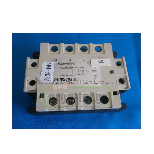 ��������O SSR ���� (SOLID STATE RELAY) ��� ���� ������ ������ ������� 4,5-32VDC ������ ACS1 40A/400V