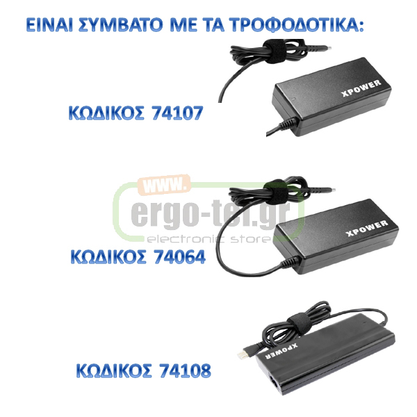 ����� �������������� TIP M10 �� 3 ���� ��� LAPTOP Dell 20V/3.5A, 20V/4.5A