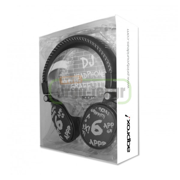 ΑΚΟΥΣΤΙΚΑ HEADPHONES DJ GRAFFITI STEREO ΓΚΡΙ APPDJGG APPROX