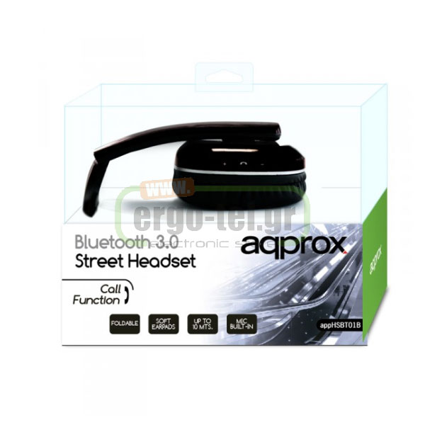 BLUETOOTH ΑΚΟΥΣΤΙΚΑ HEADPHONES DJ STREET 32Ohms 115dB ΜΑΥΡΑ APPHSBT01B
