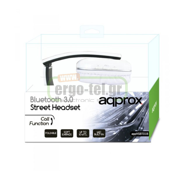 BLUETOOTH ΑΚΟΥΣΤΙΚΑ HEADPHONES DJ STREET 32Ohms 115dB ΛΕΥΚΑ APPHSBT01W