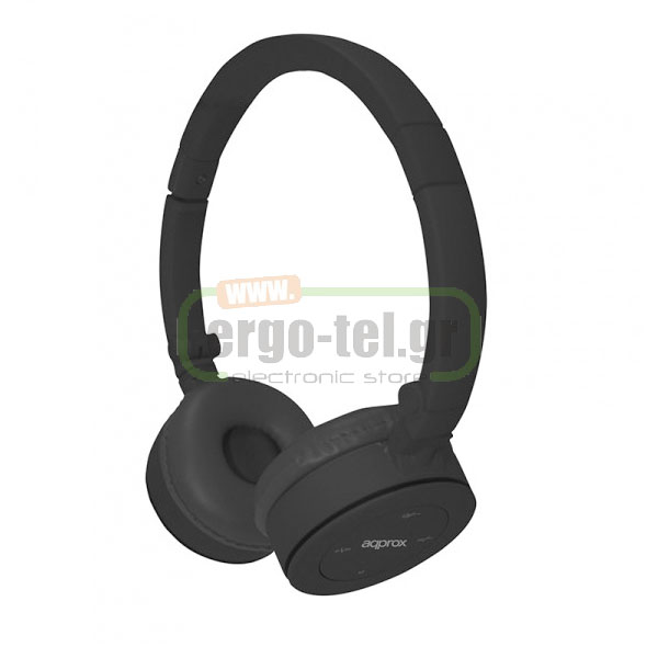 BLUETOOTH ΑΚΟΥΣΤΙΚΑ HEADPHONES FASHION 32Ohms ΜΑΥΡΟ APPHSBT02B