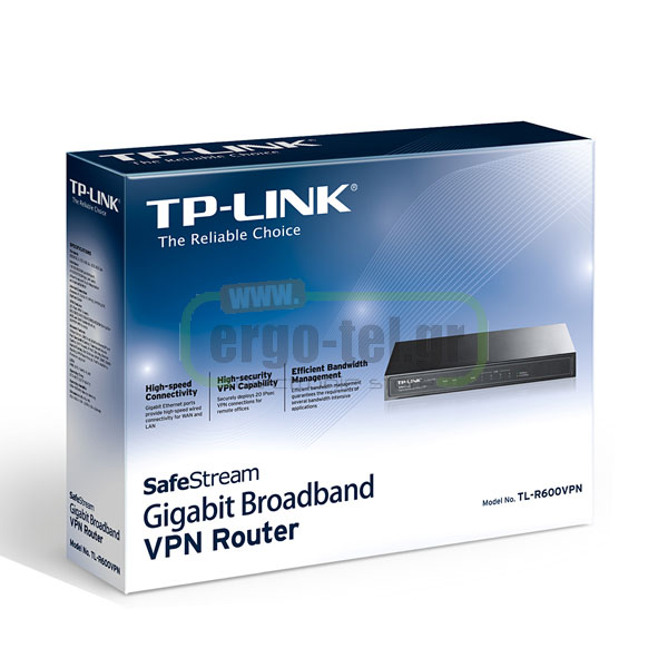 TP-LINK TL-R600VPN ROUTER VPN SAFESTREAM GIGABIT BROADBAND ROUTER ΜΕ 4 ΘΥΡΕΣ GIGABIT LAN & 1 GIGABIT