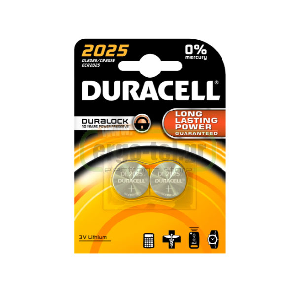 ��������� ������ 2 ������� ������������ �������� - ELECTRONICS 3V DURACELL LM2025 CR2025