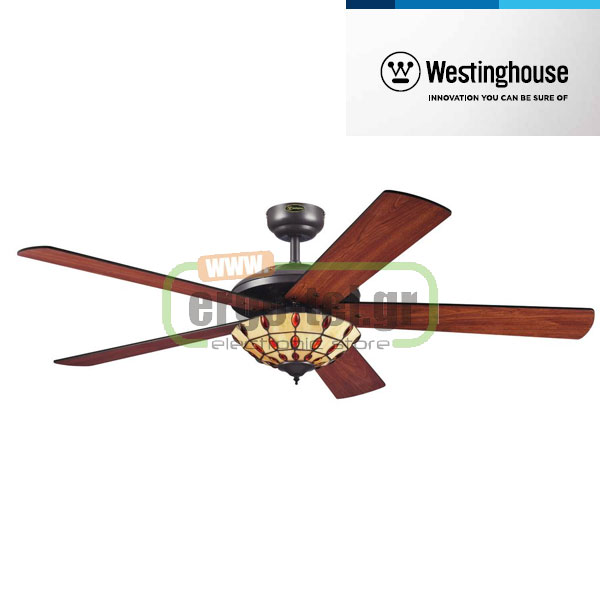 Ανεμιστήρας οροφής Westinghouse Comet Tiffany II 72485 Five-Blade Φ132cm