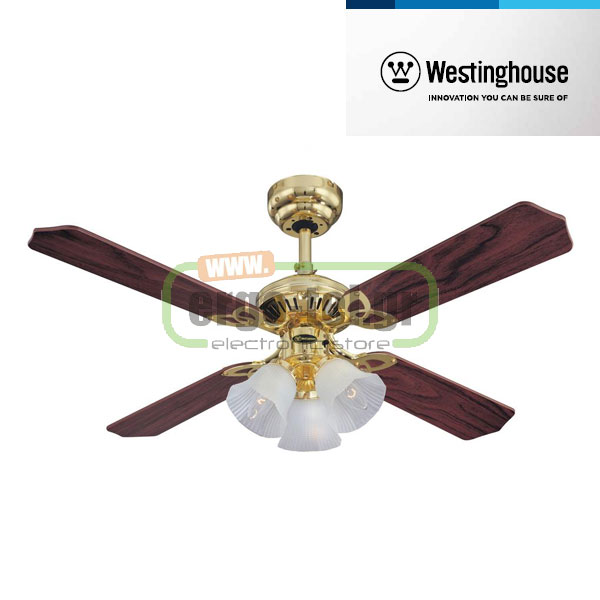 Ανεμιστήρας οροφής Westinghouse Princess Trio 78199 Polished Brass Φ105cm