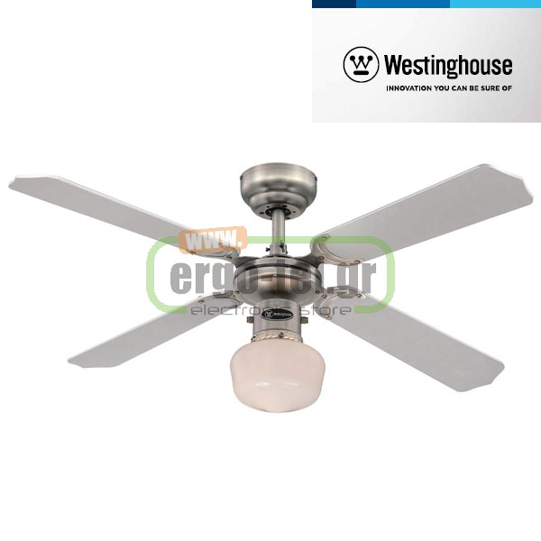 Ανεμιστήρας οροφής Westinghouse Portland EL 78266 One-Light Opal Glass Φ105cm