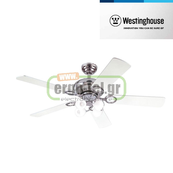 Ανεμιστήρας οροφής Westinghouse Helix Fusion 78753 chrome finish black/white blades Φ132cm