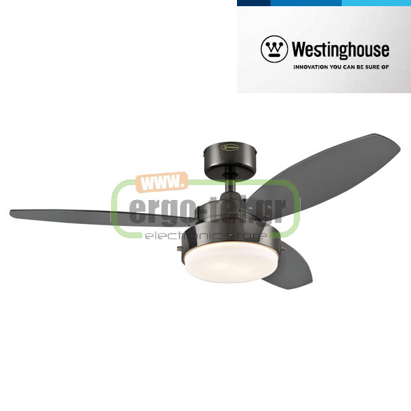 Ανεμιστήρας οροφής Westinghouse Alloy Gun 78764 Metal Finish graphite/black blades Φ105cm