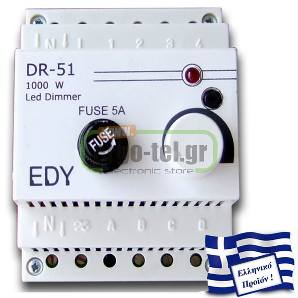 ��������� �������� - DIMMER ����� DRL-51 230V 1KW �� OPTOCOUPLER ��� ������ LED