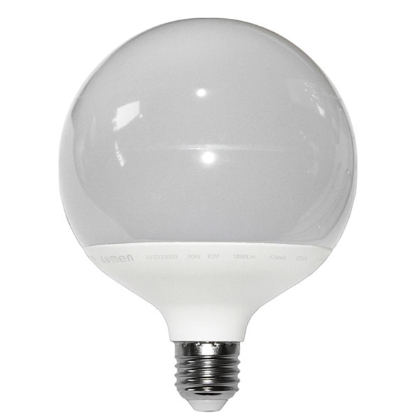 ����� led G120 Globe Ø120mm E27 20W 230V ������������� 3000k ����� ��� 1680lm ������� IP44