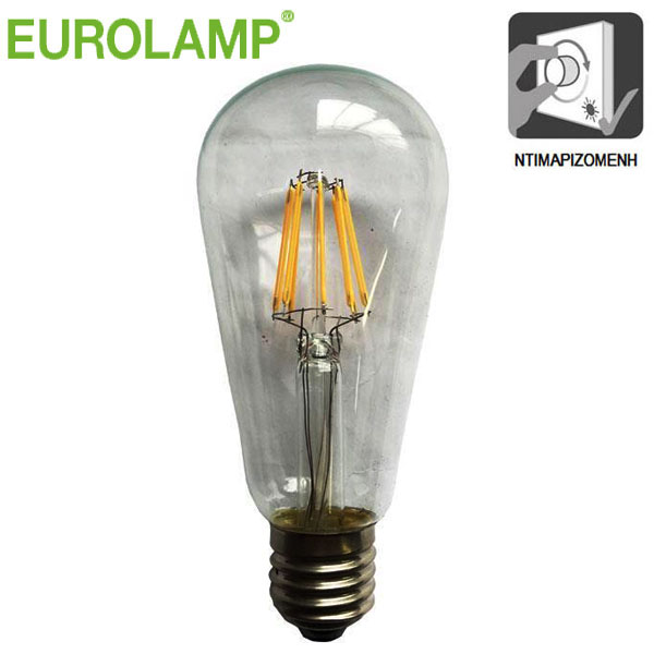 h a led filament eurolamp e27 10w 230v 3000k 1300lm st64. Black Bedroom Furniture Sets. Home Design Ideas