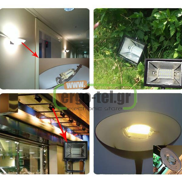����� LED SMD EUROLAMP R7s 118mm 10W 230V 3000k ����� ��� 860lm ��� ��������� �������