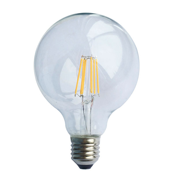 ����� led filament Globe Ø95mm �27 8W 230V 2700k ����� ����� ��� 890 lumen 30000h