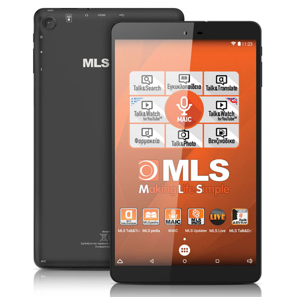 TABLET ANDROID MLS iQTab Soul μαύρο με τετραπύρηνο επεξεργαστή 1,3GHz στα 64bit