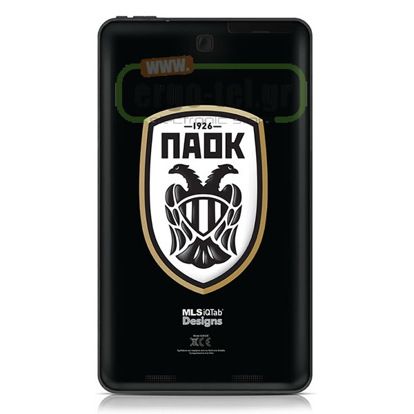 "TABLET ANDROID MLS PAOK FAN TAB IPS 8"" QUAD CORE 1,3GHz μνήμη RAM  1GB"
