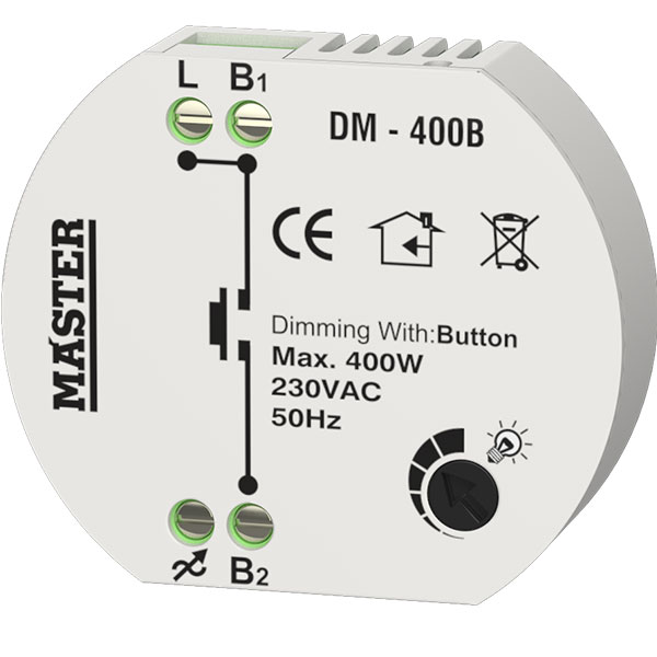 Dimmer led κυτίου (ροοστάτης) 400 Watt Multi Button Master DM-400B