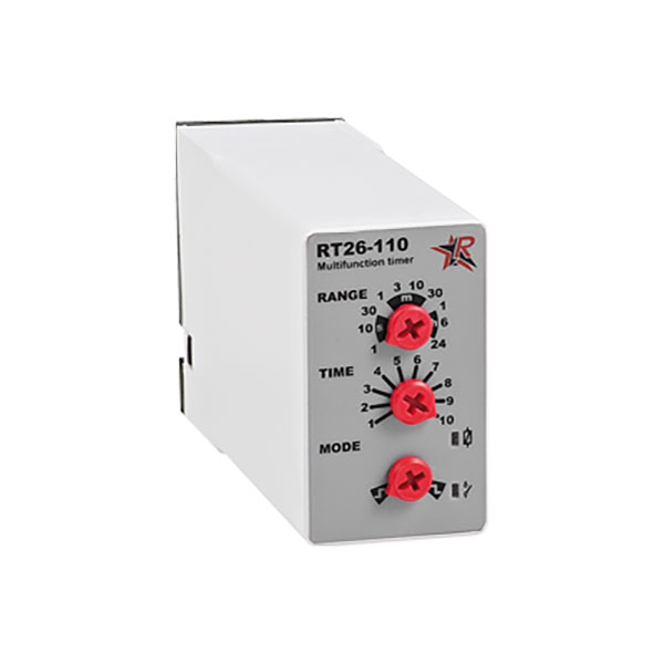 Χρονικό RINGEL με επιλογή ON-delay ή OFF-delay RT26-110 0.1sec - 24h 8pin 230V AC & 24V AC/DC