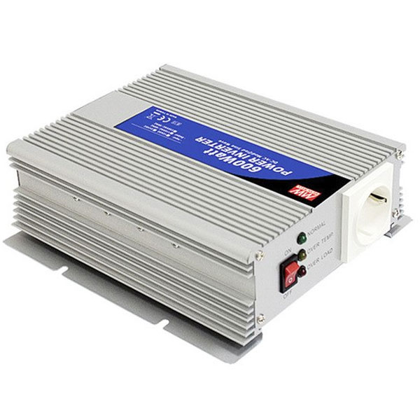 Inverter-μετατροπέας 600W 24VDC MEAN WELL A302-600F3 τροποποιημένου ημιτόνου με προστασία υπέρτασης