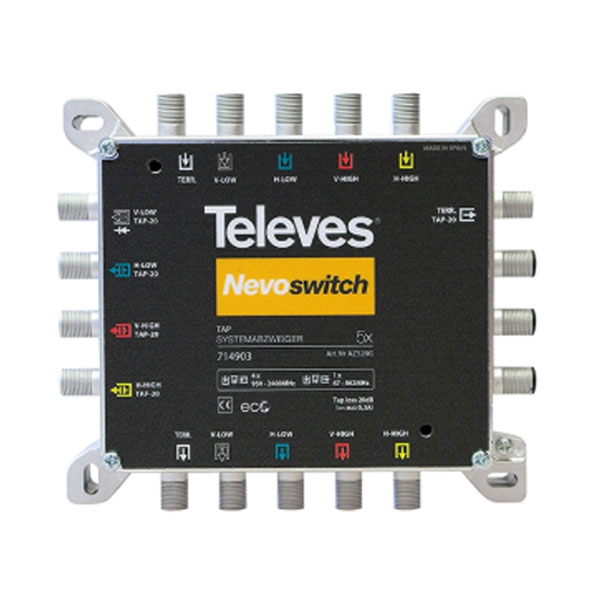 TAP NEVOSWITCH 714903 5x5x5 20db IP20