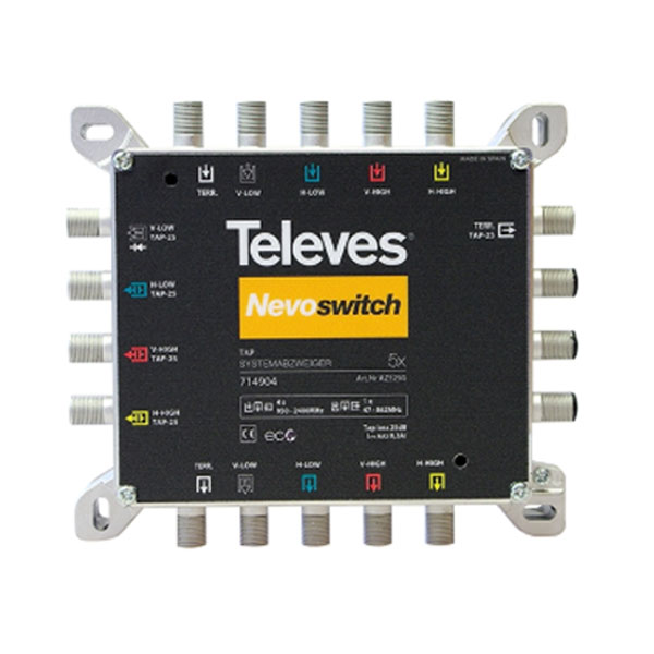 TAP NEVOSWITCH TELEVES 714904 5x5x5 IP20 25db