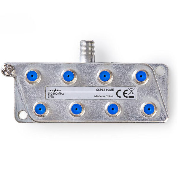 Satellite F-Splitter NEDIS SSPL810ME 18.5 dB 8 εξόδων