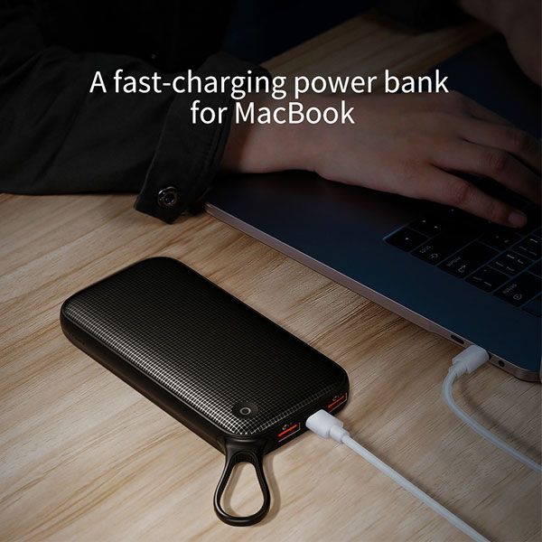 Power bank BASEUS PPKC-A01 χωρητικότητας 20000mAh PD 18W 3x output με τεχνολογία quick charge