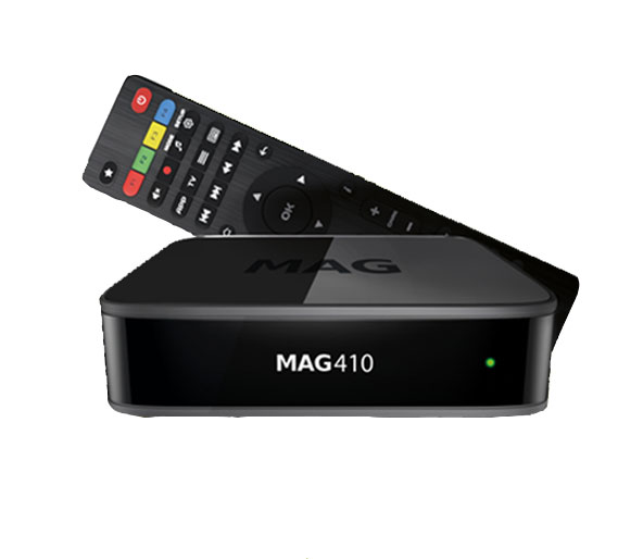 Δέκτης IPTV MAG-410 UHD Set-top Box Infomir Android 6.0.1+HDMI cable 2.0 2 GB RAM & 8 GB Flash